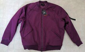 Nike Air Jordan Sportswear Wings Burgundy Wine MA-1 Jacket 879493-609 Size 2XL