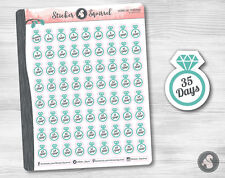Wedding Day Countdown Planner Stickers - calendar marriage reminders
