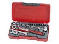 Teng Tools NEW 24 Piece 1/4 Drive Socket Ratchet Extension Tool Set * GENUINE *