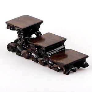 """RARE Wood Stands For Snuff Bottles Shelf,Carving Display 9"""""""