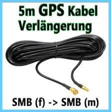 GPS Verlängerung SMB (f) > SMB m 5 Meter 500cm GPS-Kabel Antennenkabel Kabel 5m