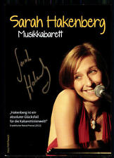 Sarah Hackenberg  Autogrammkarte Original Signiert ## BC 2853