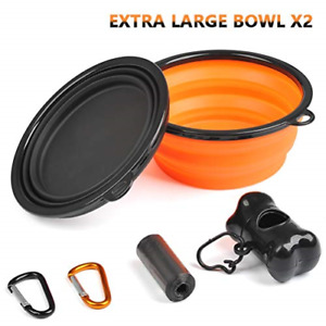 BUYGOO Extra Large Collapsible Dog Bowl Food Grade Silicone Travel Foldable Bowl
