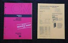 Original 1972 John Deere 1400 Zero Till Planter Operators Manual Near Mint