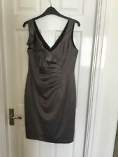 NEW DEBENHAMS PETITE COLLECTION LADIES RUCHED SLEEVELESS DRESS SZ 12 PETITE