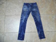 The Unbranded Brand UB121 Selvedge Blue Jeans 30 Measured 30x34