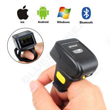 Wireless Bluetooth Barcode Finger Ring Scanner for Apple pad Android Win7/8
