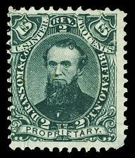 Scott RS195b 1871 2c D. Ransom & Co. Medicine Revenue on Silk Paper Fine Cat $35