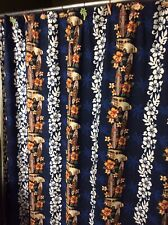 Dean Miller Bath Set SHOWER CURTAIN W/ HOOKS Hawaii Surf Woody tropical Hibiscus