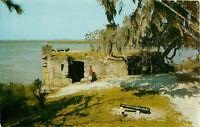 Postcard Fort Frederica, St. Simons Island, GA Posted