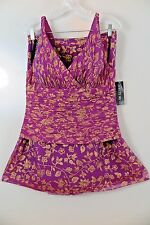 """NWT Lafayette 148 """"The Nemacolin Collection"""" Orchid Gold Skirt Set Size 8/10"""