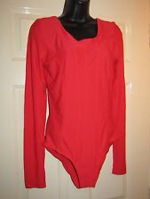 BLACKY DRESS RED BODY / ALL IN ONE - UK Size 12