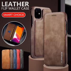 Étui portefeuille en cuir pour iPhone 11 Pro XR XS Max 8 7 6s Plus Housse Coque