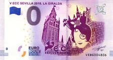 ESPAGNE Sevilla, V ECC, La Giralda, 2018, Billet 0 € Souvenir