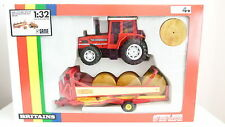 Britains Farm Gift Set - #9644 Same 170 Turbo Tractor and Krone Round Bale Wagon