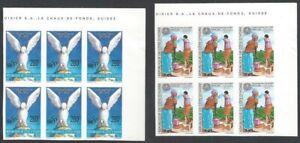 Ivory Coast #973-74 UN & FAO IMPERF blocks of 6 MNH