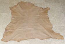 (OIE8675) Hide of Light Brown Printed Lambskin Leather Hide Skin