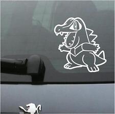 "Vinyl Decal Sticker. Car, Window, Wall... Pokemon 158 Totodile (6"" x 6.5"")"