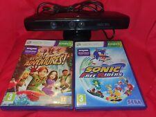 Xbox 360 Kinect Bundle With 2 Games. Kinect model 1414  C