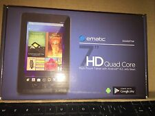 "Ematic 7"" LCD Google Certified Android 4.2 8GB Quad-Core Wi-Fi Tablet Yellow NEW"