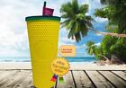 NEW Studded Pineapple yellow Tumbler 24oz Cup Double Wall Starbucks Hawaii