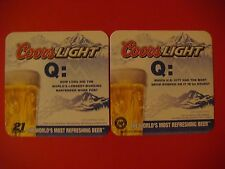 2007 Coors Beer Coaster: Which City Had The Most Snow Dumped On It In 24 Hours?