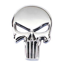 Universal THE PUNISHER SKULL motos 3d Metal Insignia Emblema Pegatina