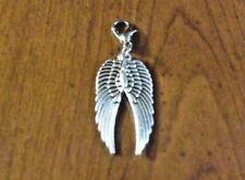 charms argentée 2 ailes d'ange 30x10 mm