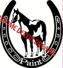 PAINT HORSE Vinyl Decal Laptop Gift Car Truck Window- PERSONALIZE IT with a NAME
