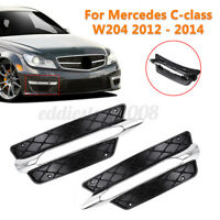Left For Benz Mercedes C-Class W204 2012 - 2014 Front Bumper DRL Grille  !VD