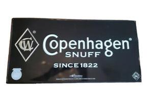 New Sealed! 5 Vintage Copenhagen Snuff Since 1822 Black Metal Signs 24 x 12 Lot
