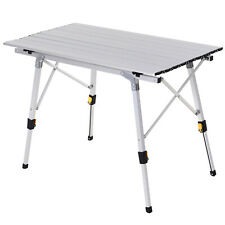 Adjustable Leg Outdoor Table Height Level Picnic Car Portable Foldable Camping