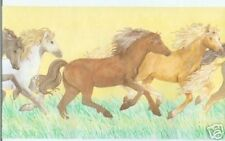 Horses for Girl's Room Wallpaper Border B5712