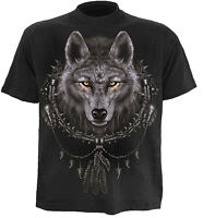 SPIRAL DIRECT WOLF DREAMS T-Shirt Biker/Skull/Goth/Wolf/American Indian/Top/Tee