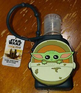 NEW 1 FL OZ Hand Sanitation W/ Case Disney Star Wars Mandalorian Baby Yoda BLACK