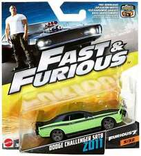 Mattel - Fast & Furious 1:55 Die Cast Car - Dodge Challenger SRT8 2011 - NEW