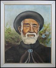 ARTE NAIF- ritratto di turco olio su tela 56x46 ENRICO COPETTA CO.EN 1925-1989