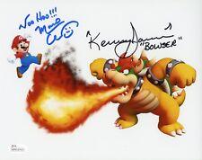 CHARLES MARTINET & KENNY JAMES Signed Nintendo SUPER MARIO 8x10 photo JSA COA D