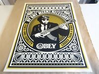 2007 OBEY SHEPARD FAIREY By any means necessary PRINT STREET POSTER 18X24