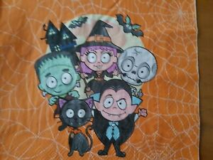 4 x PAPER NAPKINS ORANGE MONSTER HALLOWEEN for TABLE, DECOUPAGE & CRAFTING
