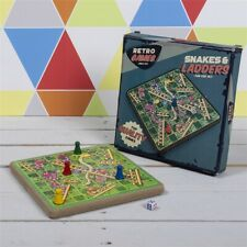 Retro Classic Childrens Wooden Snakes & Ladders Board Game Set