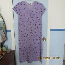 Women's Cherokee size S M Floral Lilac Purple Sleepwear Sleep Shirt Gown