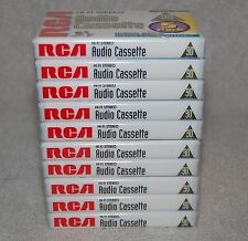RCA Hi-Fi Stereo 90 Min Cassette Tape Lot of 10 -Normal Bias Type1 -NEW SEALED