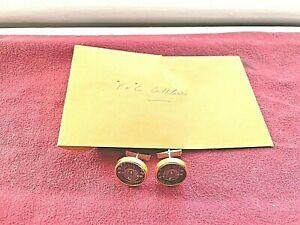 Brass with Black Background Mens Temperature Cufflinks (Fahrenheit/Centigrade)