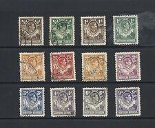 1938 King George VI  SG25 - SG39 short set used NORTHERN RHODESIA