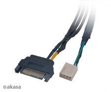Akasa CBFA 06-30 Vara FP3S 3-way Cable divisor de entrada de ventilador PWM