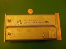 RF IF microwave bandpass tunable filter 225 - 450Mhz, 1Mhz 1dB BW data
