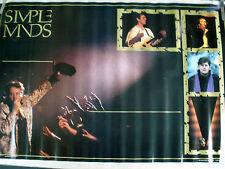 RARE SIMPLE MINDS 1986 VINTAGE ORIGINAL MUSIC POSTER