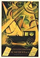 SCHEBERA AG Plakat 1922, Automobile , Oldtimer, Reprint