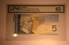 CANADA $5 2006 AOM0480091 SNR Replacement PMG Graded GEM UNC 65 *RARE*